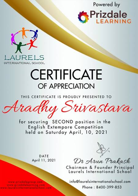 Laurels Online English Extempore Competition