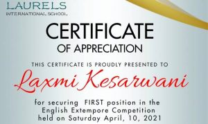 English Extempore Competition Results